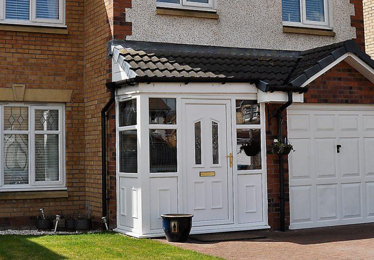 uPVC Porch and garage door