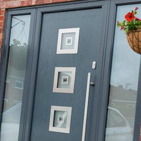 a modern door