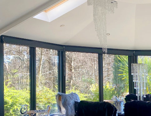 tiled conservatory roof interior